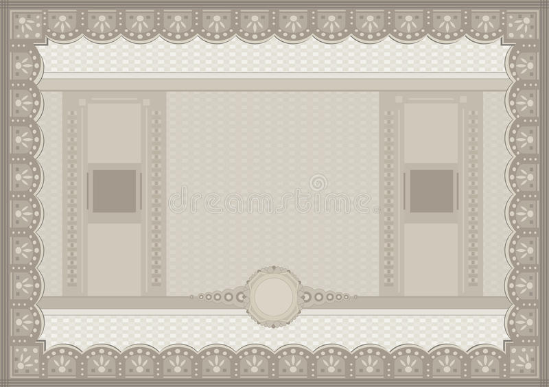 Certificate Voucher Coupon Paper A4 Template Stock Vector