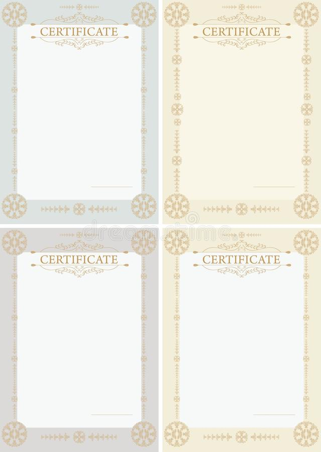 Download Certificates vertical stock vector. Illustration of decoration - 36688054
