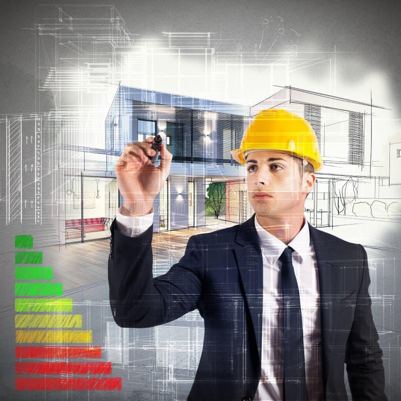 Certification d'énergie d'architecte photo libre de droits