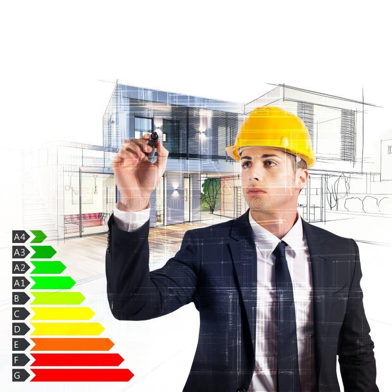 Certification d'énergie d'architecte photos stock