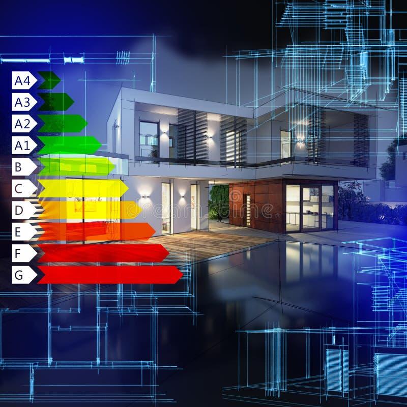 Certification d'énergie de villa photos libres de droits