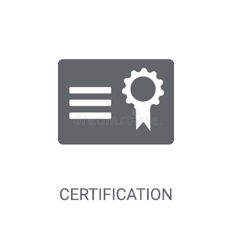 Certification icon. Trendy Certification logo concept on white b royalty free illustration