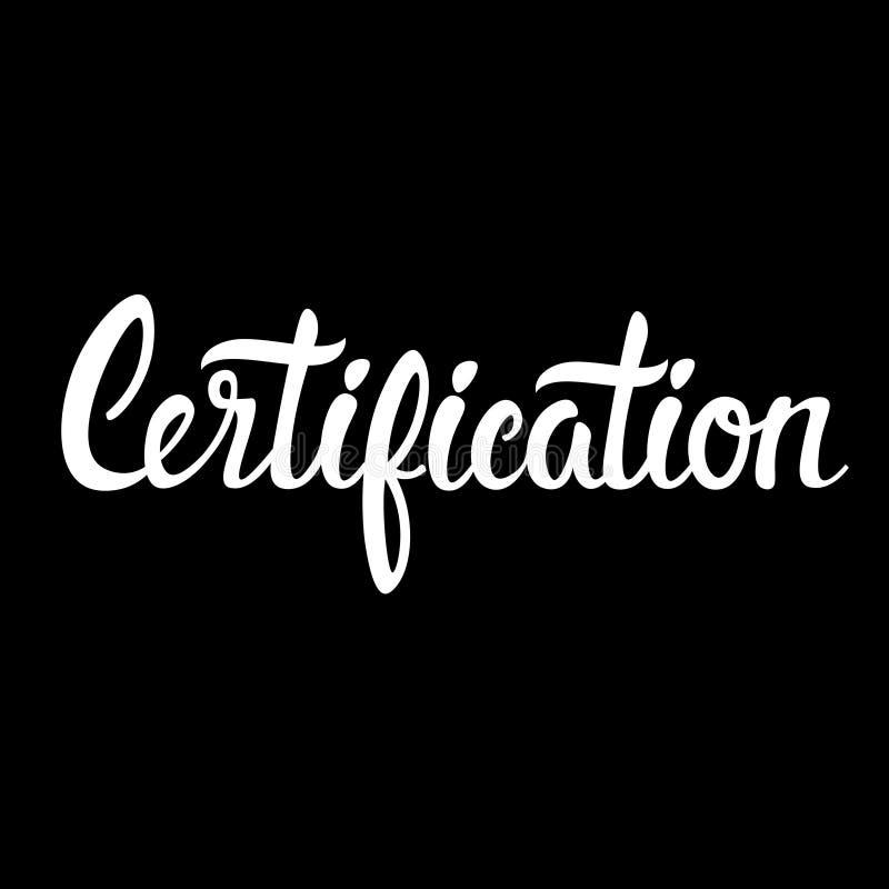 Certification Infographic d'affaires de perfectionnement en gestion illustration stock