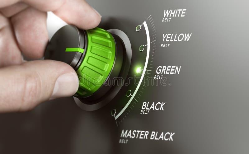 Certification maigre de gestion, ceinture verte illustration stock