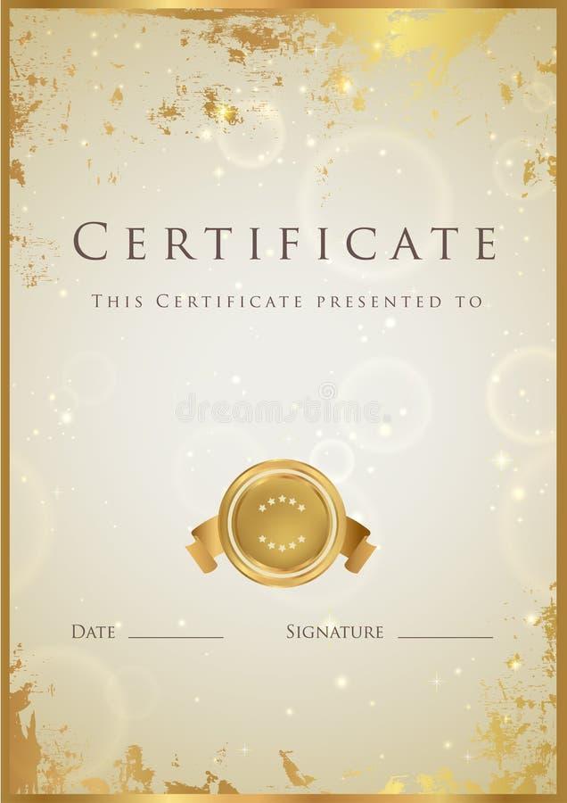 Certificato royalty illustrazione gratis