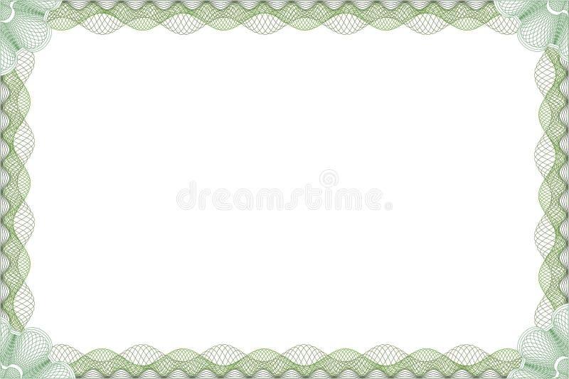 Certificato illustrazione di stock