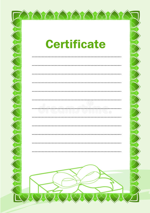 Certificato in bianco illustrazione vettoriale
