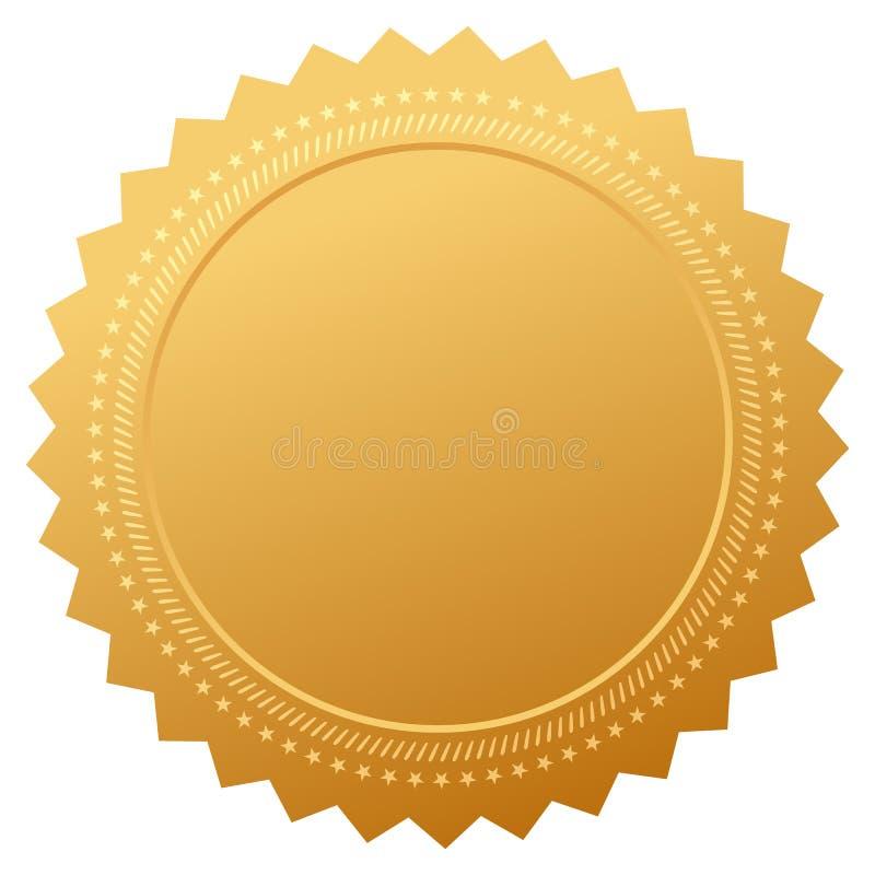 Certificato in bianco di garanzia royalty illustrazione gratis