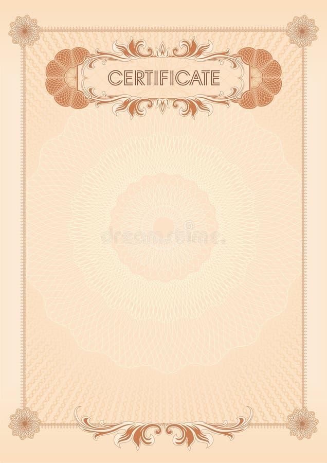 Certificato blank09 illustrazione vettoriale