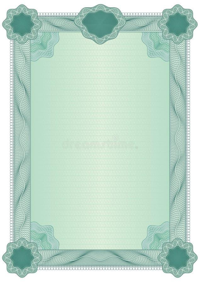 Certificato blank11 illustrazione di stock