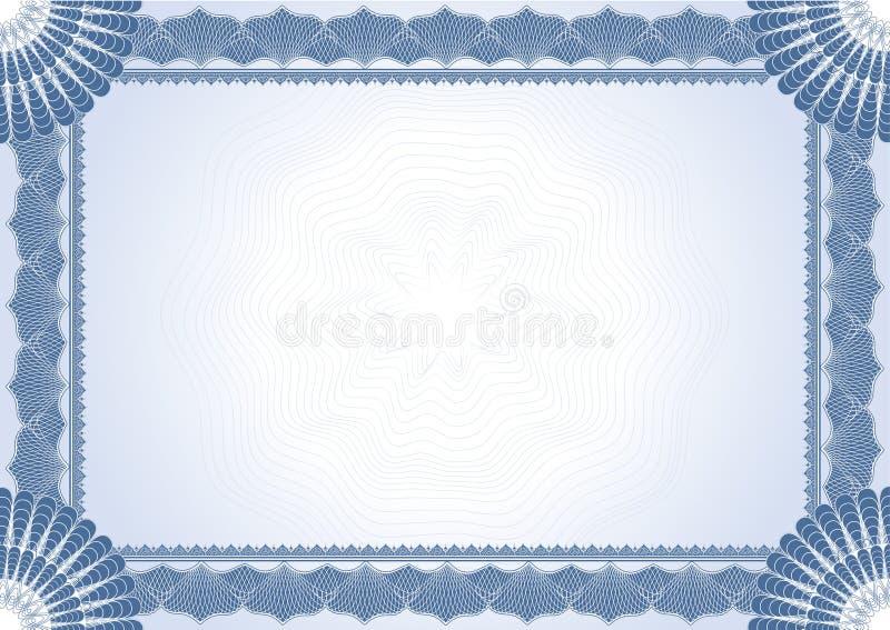 Certificato del diploma illustrazione vettoriale
