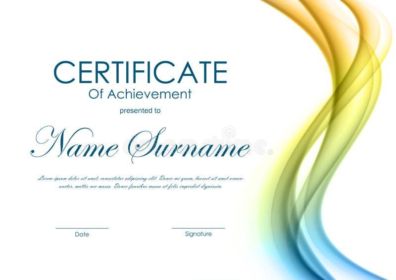 Certificato del modello di risultato illustrazione di stock