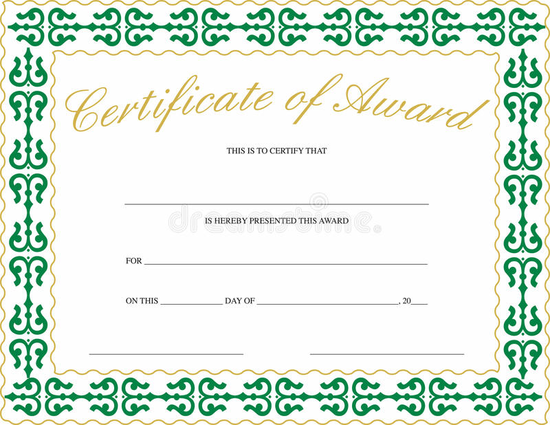 Certificato del premio illustrazione vettoriale