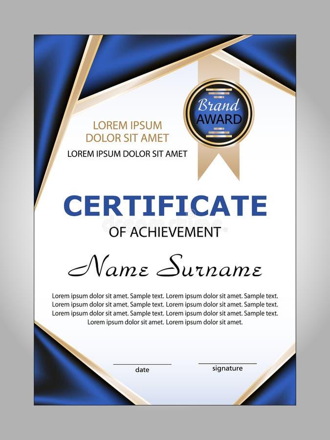 Certificato del risultato vincitore del premio Vettore royalty illustrazione gratis