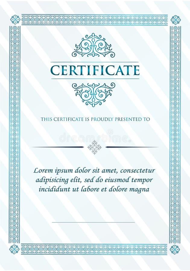 Certificato del telaio dell'annata di risultato royalty illustrazione gratis