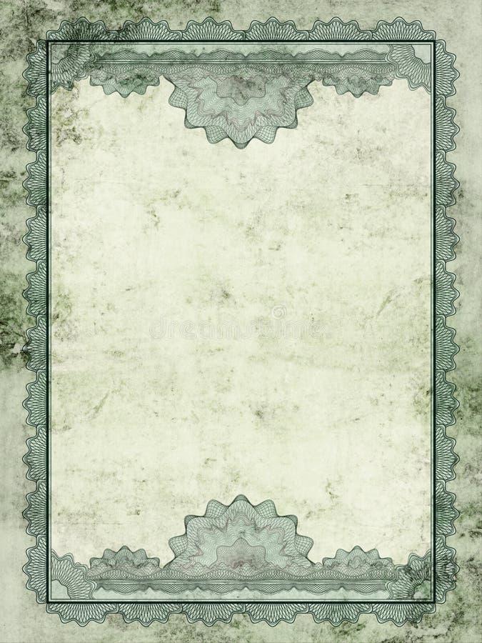 Certificato di Grunge illustrazione di stock