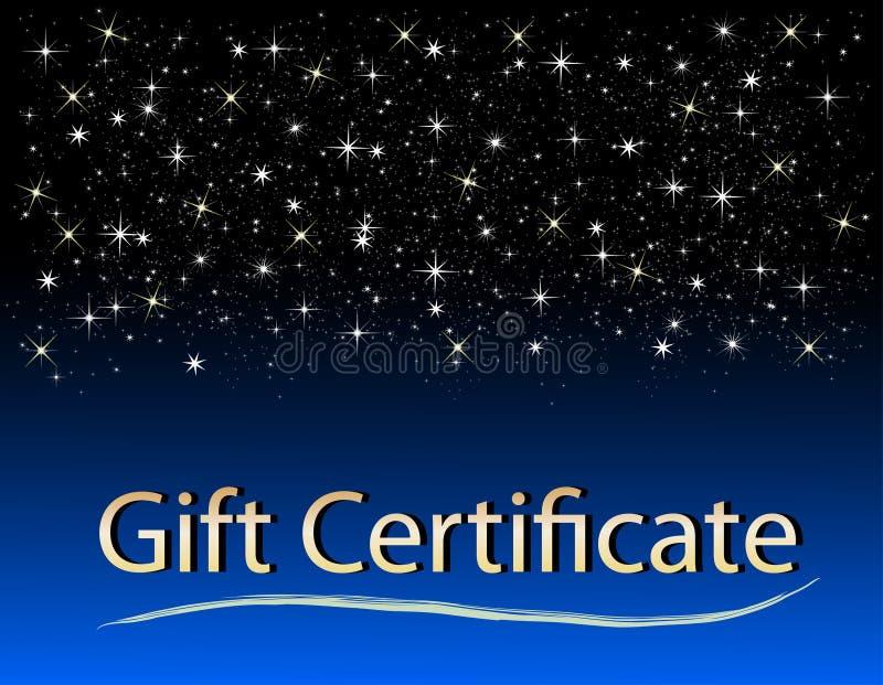 Certificato di regalo di natale royalty illustrazione gratis