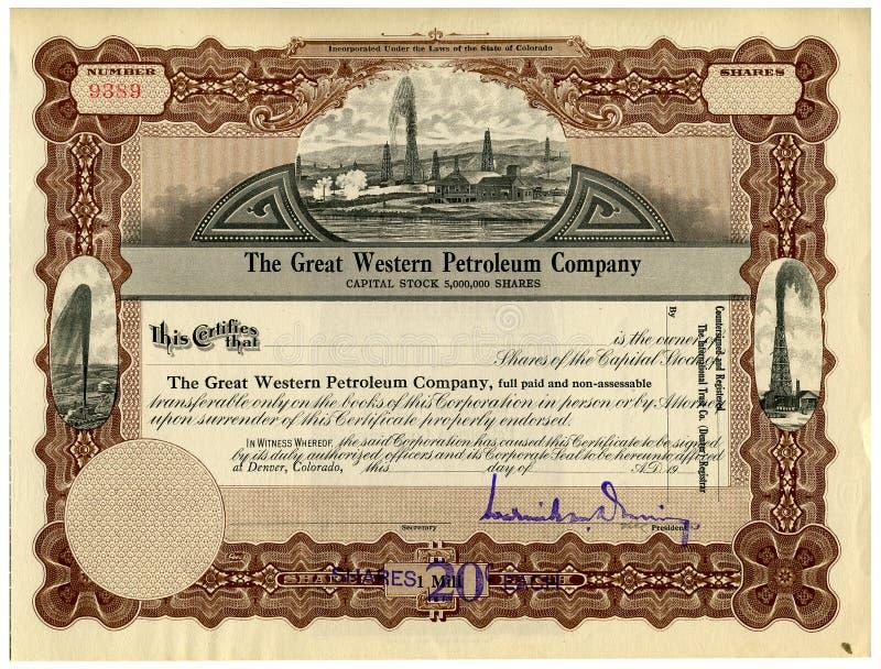Certificato di riserva immagine stock libera da diritti