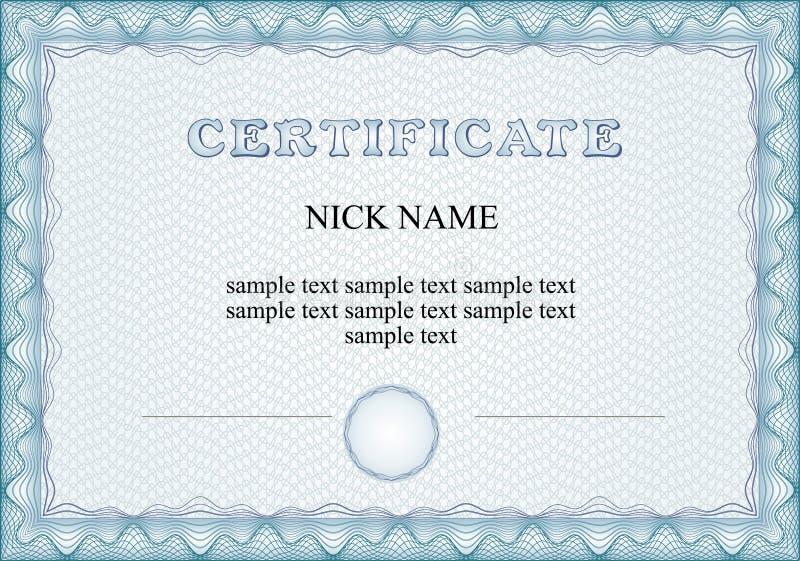 Certificato, diploma per la stampa immagine stock libera da diritti