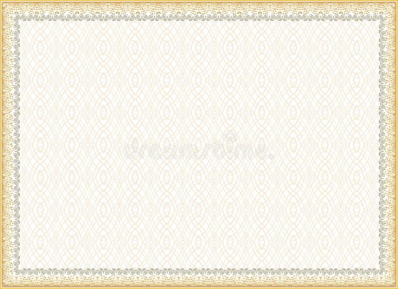 Certificato, diploma per la stampa illustrazione di stock
