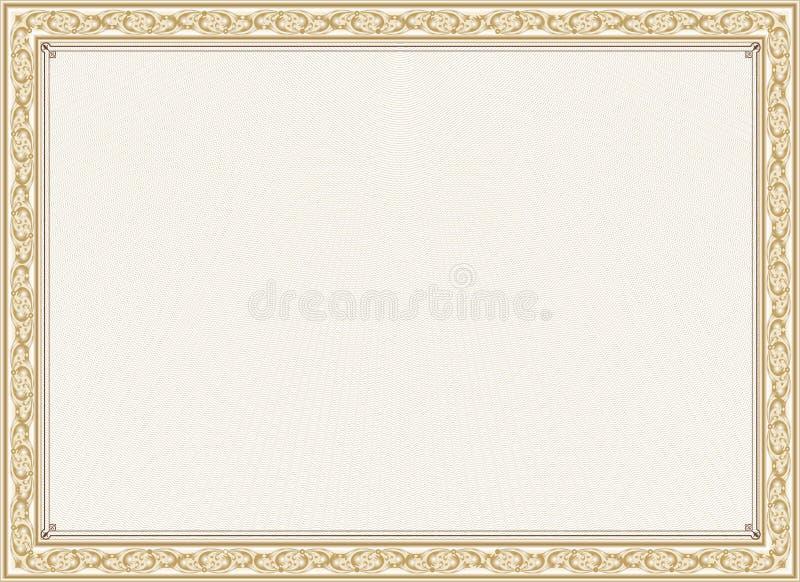 Certificato, diploma per la stampa royalty illustrazione gratis