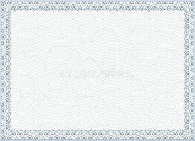 Certificato, diploma per la stampa illustrazione vettoriale