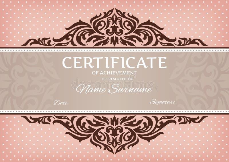 Certificato del risultato illustrazione di stock
