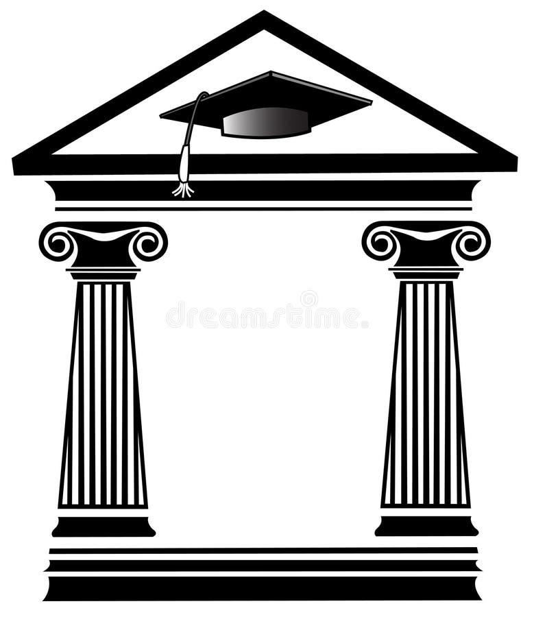 Certificato laureato illustrazione di stock