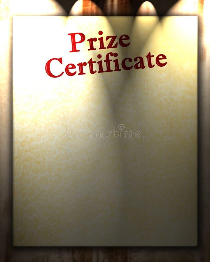 Certificato premiato illustrazione vettoriale