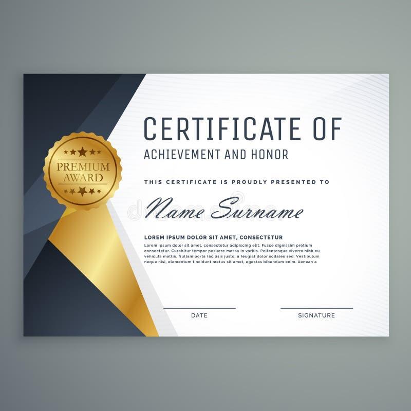 Certificato premio di progettazione del premio di apprezzamento royalty illustrazione gratis
