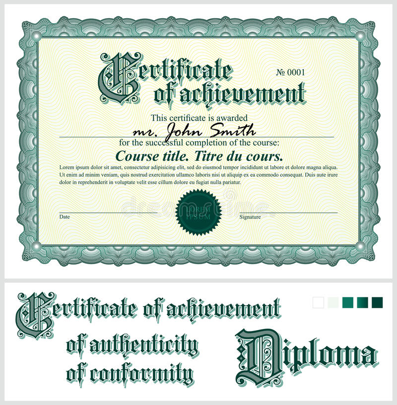 Certificato verde mascherina orizzontale royalty illustrazione gratis