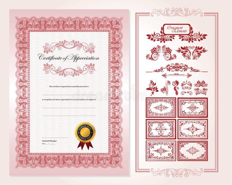 Certifichi il modello di disegno royalty illustrazione gratis