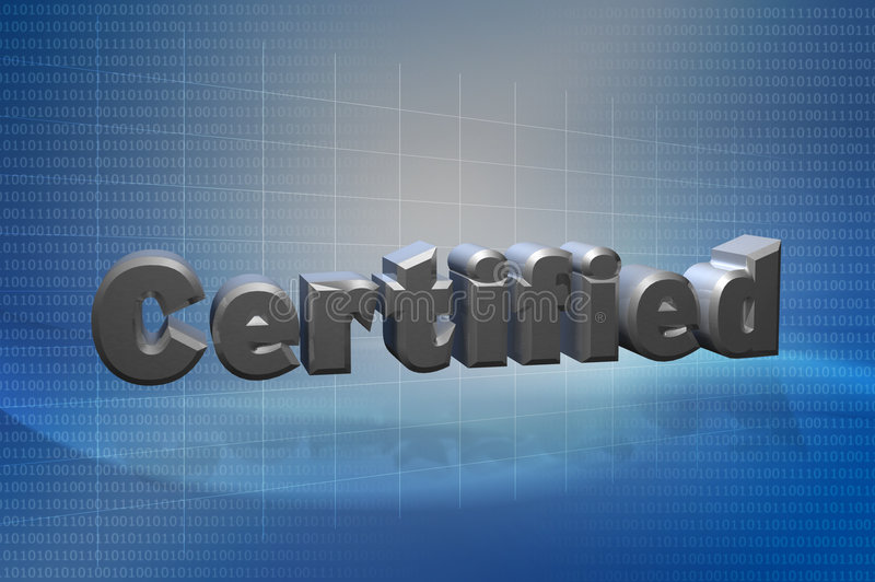 Download Certified 3D Text Techno stock illustration. Image of corporate - 9357021
