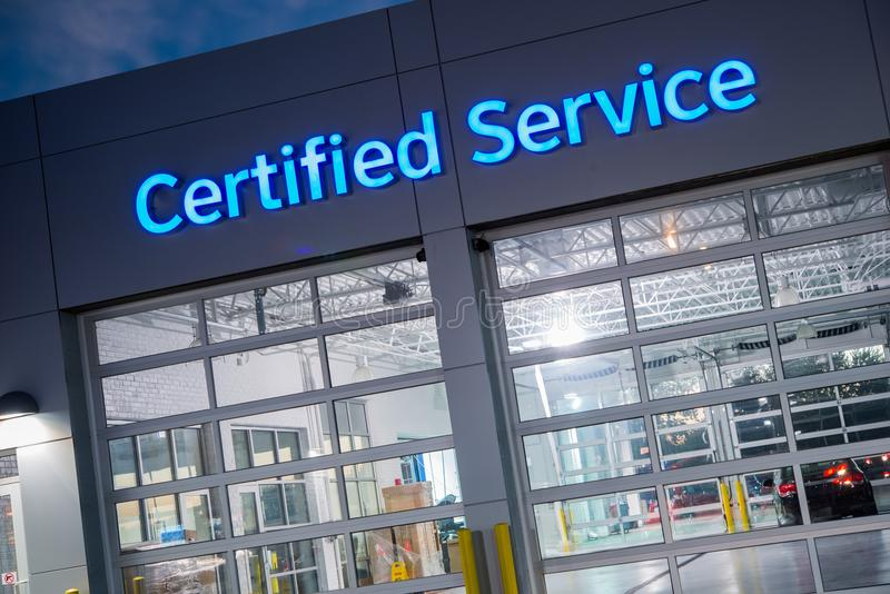 Certified Car Service royalty free stock image