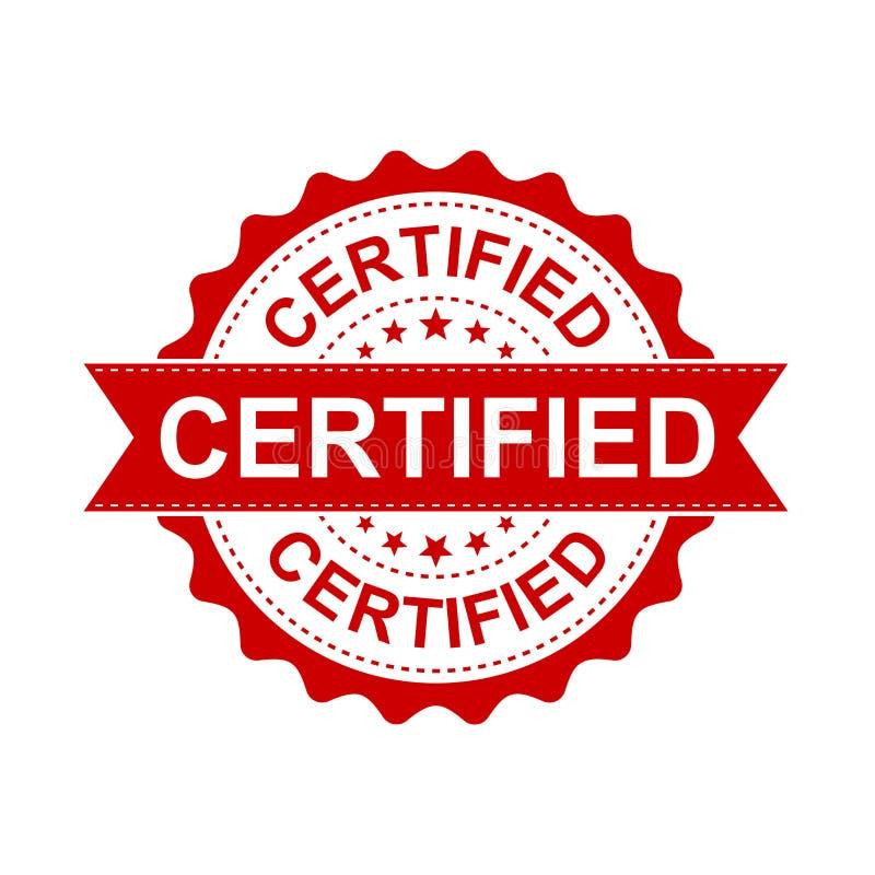 Certified grunge rubber stamp. Vector illustration on white back vector illustration