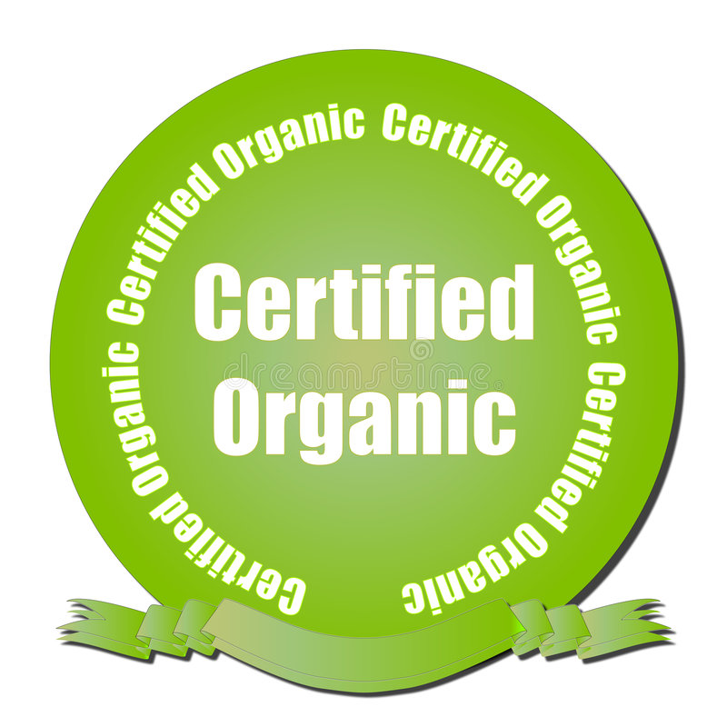 Certified Organic Seal vector illustration