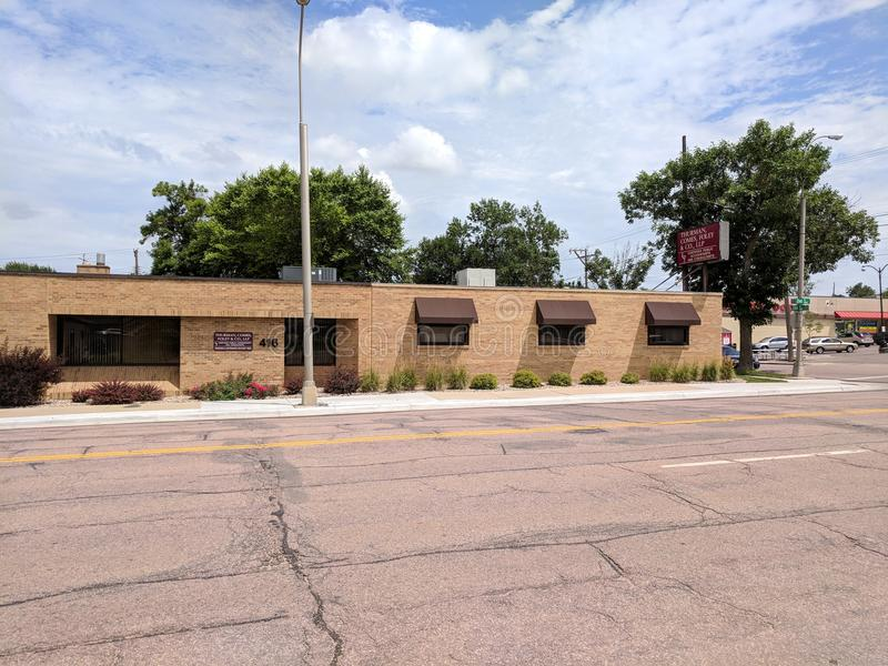 Thurman, Comes, Foley & Co., LLP. Certified public accountants in downtown Sioux Falls, South Dakota. CPA offices stock photos