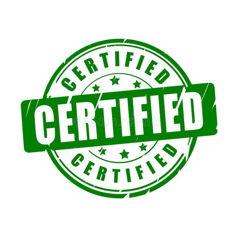 Certified vector stamp vector illustration