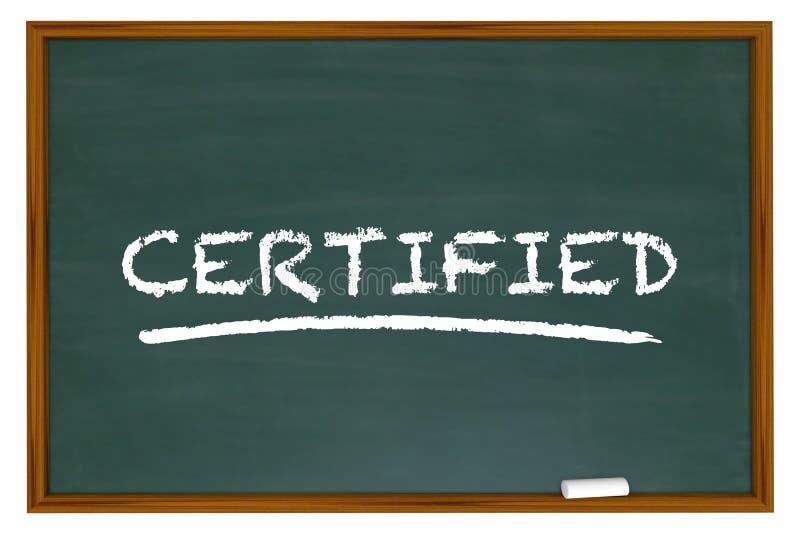 Certified Word Chalkboard Learning Certification royalty free illustration