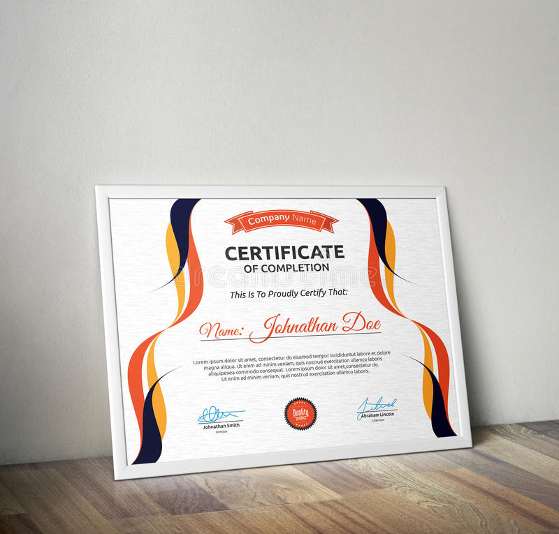 certifikat arkivbilder