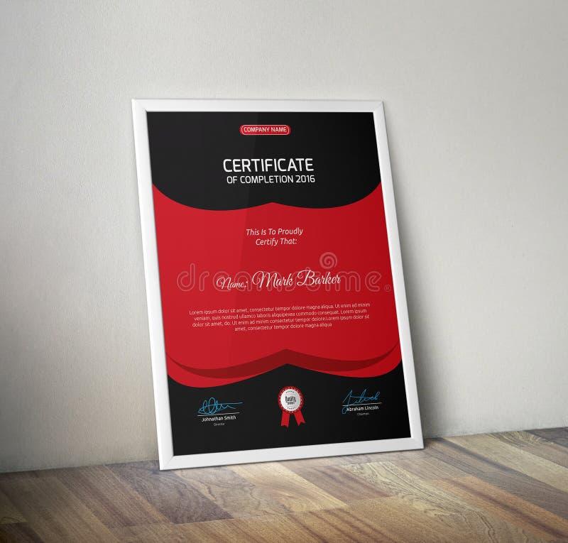 certifikat royaltyfri bild