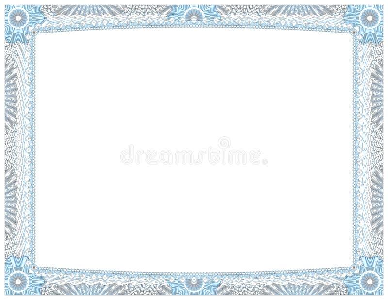 Certifikat av prestationutmärkelsen royaltyfri illustrationer