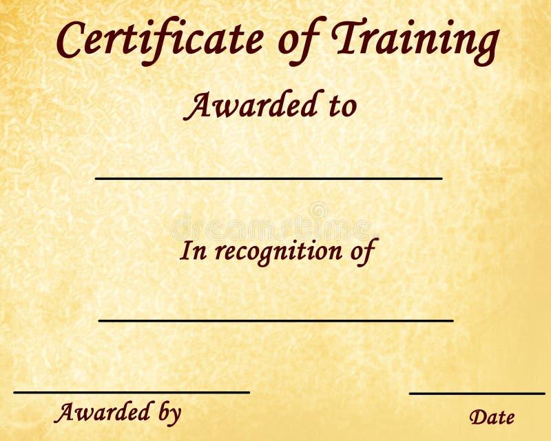 Certifikat av utbildning royaltyfri illustrationer