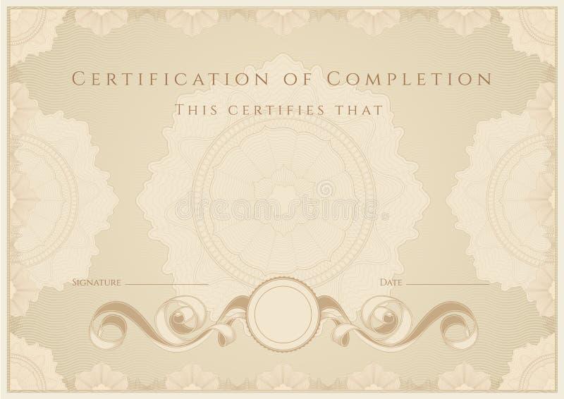 Certifikat/diplom vektor illustrationer
