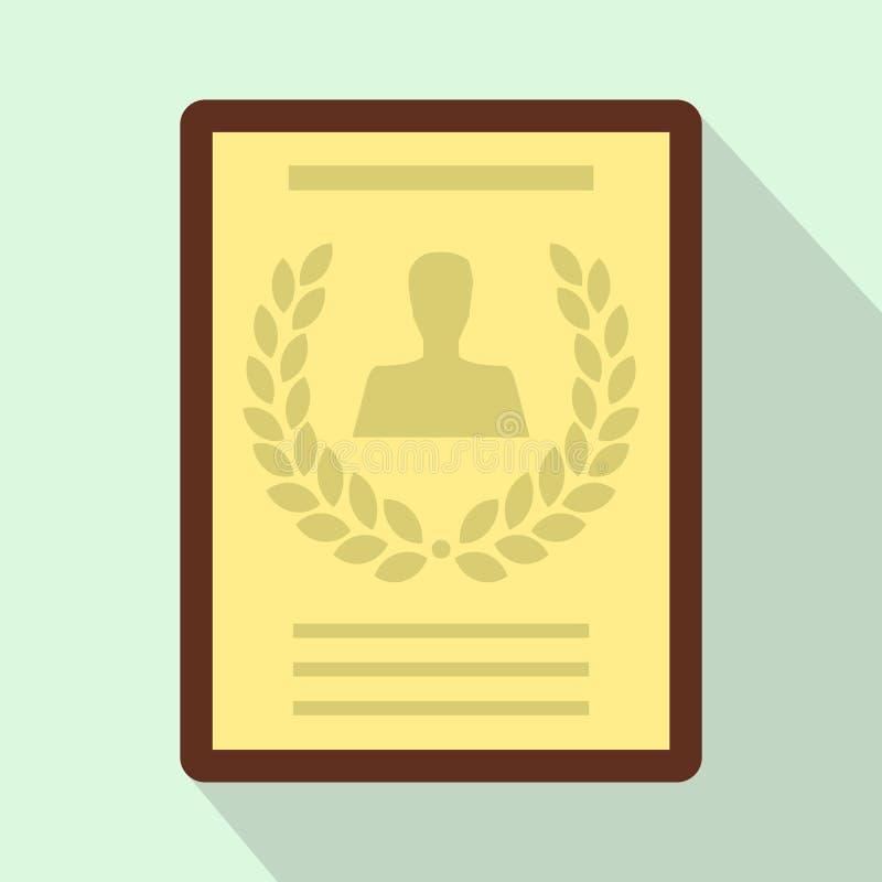 Certifikat diplom, chartersymbol, lägenhetstil royaltyfri illustrationer