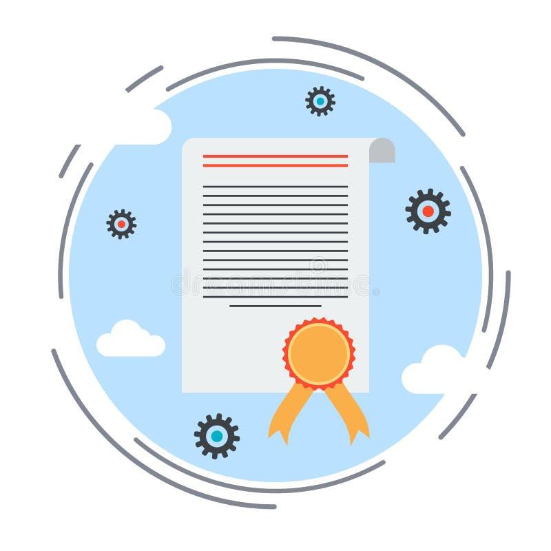 Certifikat diplom, chartervektorillustration stock illustrationer