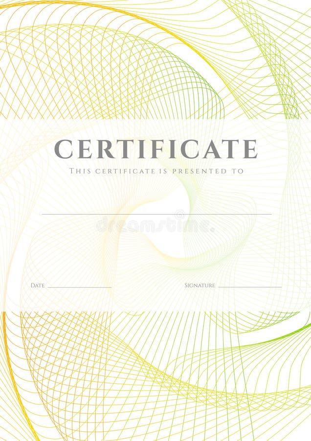 Certifikat-/diplombakgrund (mallen) royaltyfri illustrationer