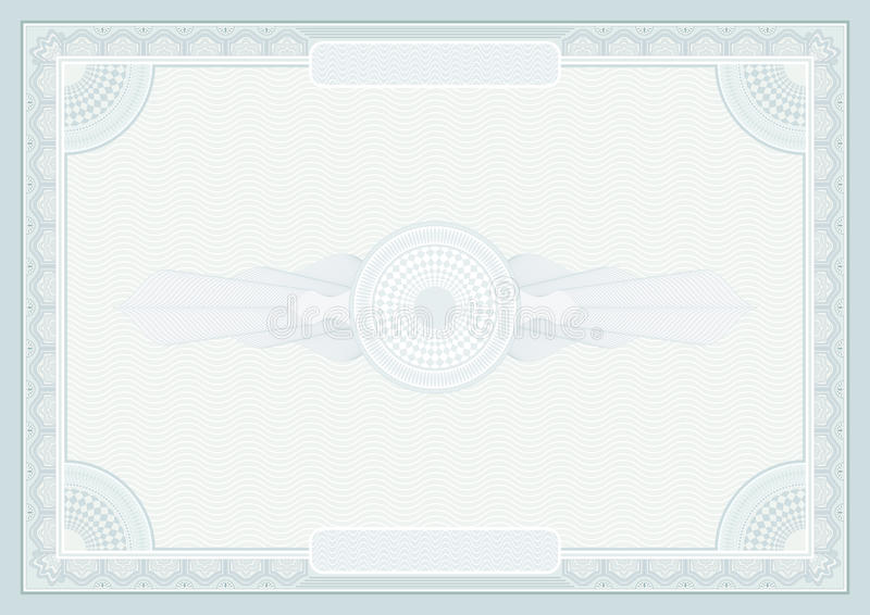 Certifikatbakgrund royaltyfri illustrationer