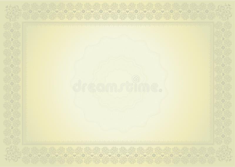 certifikatdiplom royaltyfri illustrationer