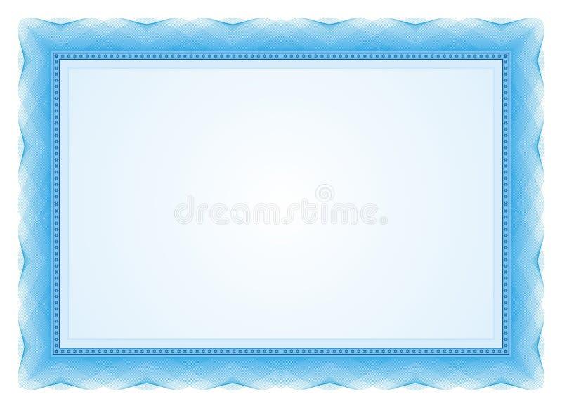 Certifikatram - gräns vektor illustrationer